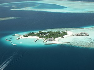 Fishing industry in the Maldives - Bolifushi in Kaafu Atoll is one of 1,190 islands in the Maldives.