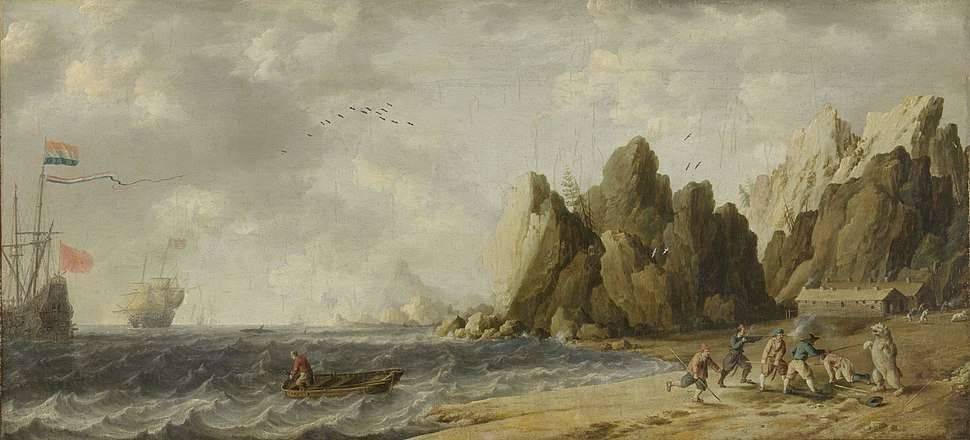 Bonaventura Peeters (I) - Icebear Hunt on the Coast of Norway (?)