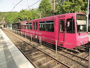 Bonn Stadtbahn - Bonn U-Bahn near Königswinter in 2011