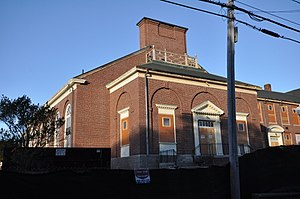 Old Bourne High School building - Image: Bourne MA Former Koady School Gym Wing