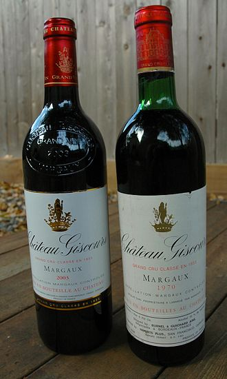 Château Giscours - Two vintages of Château Giscours, 1970 and 2003.