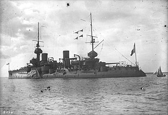 French battleship Bouvet - Bouvet at anchor, c. June 1912