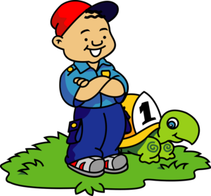 Clip art - Boy and Turtle clip art from the openclipart