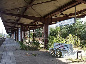 Potsdam Pirschheide station - The closed upper platform