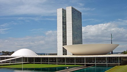 National Congress, seat of the legislative branch. Brasilia Congresso Nacional 05 2007 221.jpg