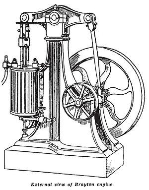Brayton cycle - Brayton walking beam engine 1872