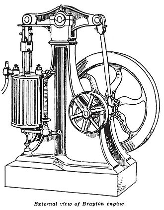 Brayton cycle - Brayton walking beam engine 1872