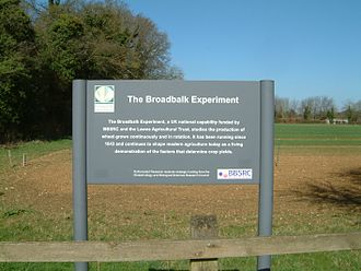 Long-term experiment - Broadbalk Experiment Rothamsted