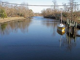 Broadkill River - The Broadkill River in Milton in 2006