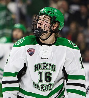 North Dakota Fighting Hawks men's ice hockey - Brock Boeser of the Fighting Hawks in 2016