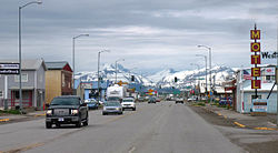 Downtown Browning en mayo de 2011.