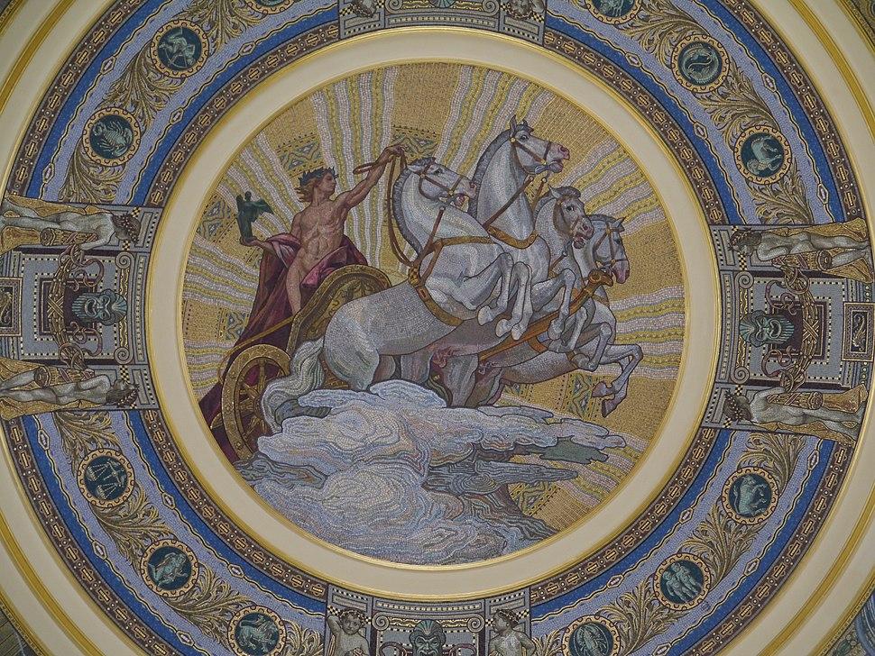 Budapest Széchenyi-Bad Eingangshalle Kuppel 4