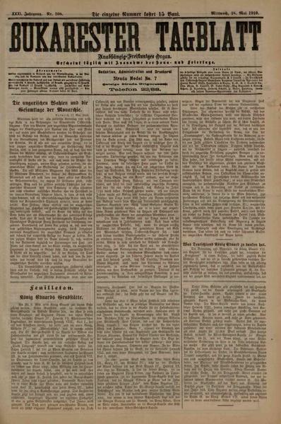 File:Bukarester Tagblatt 1910-05-18, nr. 108.pdf