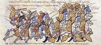 Bulgarians rule the Byzantines under Krinites and Kourtikios, Madrid's illuminated manuscript of the Skylitz