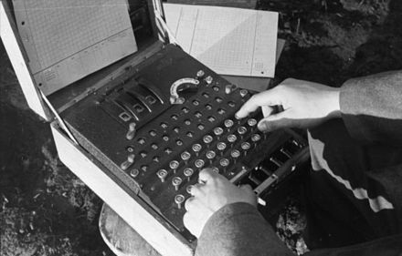 Enigma in use on the Russian front - Enigma machine