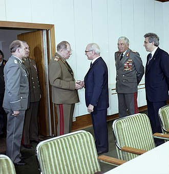 Dmitry Ustinov - In 1984 in East Berlin, with Erich Honecker.