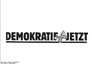 Democracy Now (East Germany) - The party logo prior to 1990