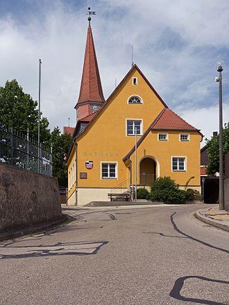 Burk, Bavaria - Image: Burk, toren van de evangelisch lutherische Pfarrkirche, ehemals St. Blasius, Nikolaus und Michael Dm D 5 71 128 1 foto 8 2016 08 04 15.07