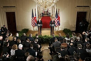 President George W. Bush and British Prime Min...