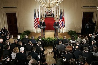 News conference - Image: Bush Blair press conference