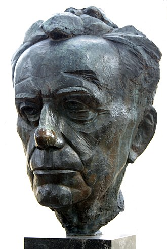 James Rosati - Bust of Paul Tillich by James Rosati in New Harmony, Indiana, U.S.A.
