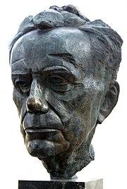 Buste van Paul Tillich door James Rosati in New Harmony, Indiana, Verenigde Staten