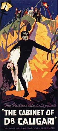 The cabinet of Dr Caligari 1920 locandina film espressionismo
