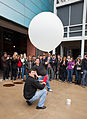 COD Meteorology Department Launches Weather Balloon 2015 32 (17302783361).jpg