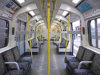 London Underground C69 and C77 Stock - Image: C Stock DM Interior
