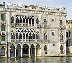 ca 39 d 39 oro fa ade overlooking the grand canal