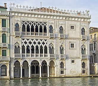 Venetian Gothic architecture - Ca' d'Oro on the Grand Canal.