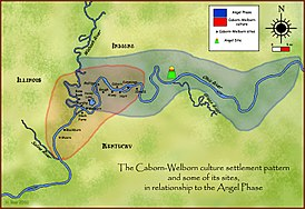 Caborn-Welborn culture and some of its larger sites.