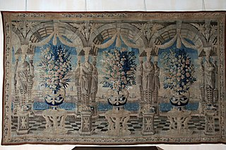 Tapestry with three bouqets