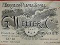 """Caja de placas fotográficas fabricadas por """"G. Welter y Compañía"""", en Madrid, hacia el año 1912.jpg"""