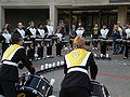 Cal Band on Lower Sproul before 2008 Big Game pregame rally 3.JPG