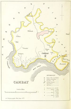 Cambay State - Map of Cambay State
