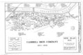 Cambria Iron Company, Site Plan 1891 - Cambria Iron Company, East side of Conemaugh River, Johnstown, Cambria County, PA HAER PA,11-JOTO,135- (sheet 5 of 8).png