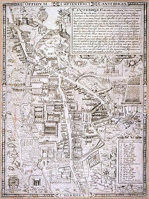 Timeline of Cambridge - Map of Cambridge, 1574