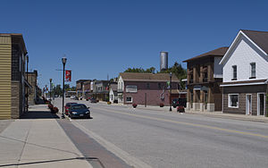 Lucknow, Ontario - Campbell Street in Lucknow, the main thoroughfare of the town (Bruce Road 86)