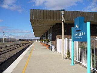 Canberra railway station Australian railway station