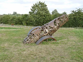 Sconce and Devon Park - Cannon sculpture at Queen's Sconce, Newark on Trent