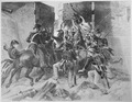 Capture of Fort George. Colonel Winfield Scott leading the attack. July 1813. Copy of engraving after Alonzo Chappel, ci - NARA - 531089.tif