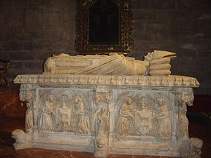 Lorenzo Mercadante - Sepulchre of Cardinal Juan de Cervantes, in the Cathedral of Seville, realized by Mercante in 1458.