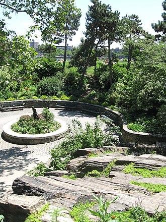 Carl Schurz Park - Peter Pan statue in park plaza