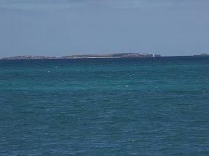 Carnac Island - Carnac Island photographed from C. Y. O'Connor Beach