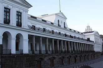 Politics of Ecuador - Carondelet Palace, seats the executive power.