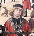 Carpaccio, storie di s.orsola 01 Arrivo degli ambasciatori inglesi alla corte del re di Bretagna, 1495 circa, 05,1.jpg