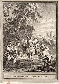Cars-Oudry-La Fontaine-L'âne portant des reliques.jpg