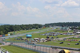 Watkins Glen International - Cars drive through the Esses during the 2014 Sahlen's Six Hours of The Glen.