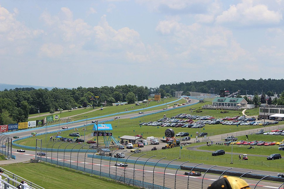 Cars drive through the Esses during the 2014 Sahlen%27s Six Hours of The Glen